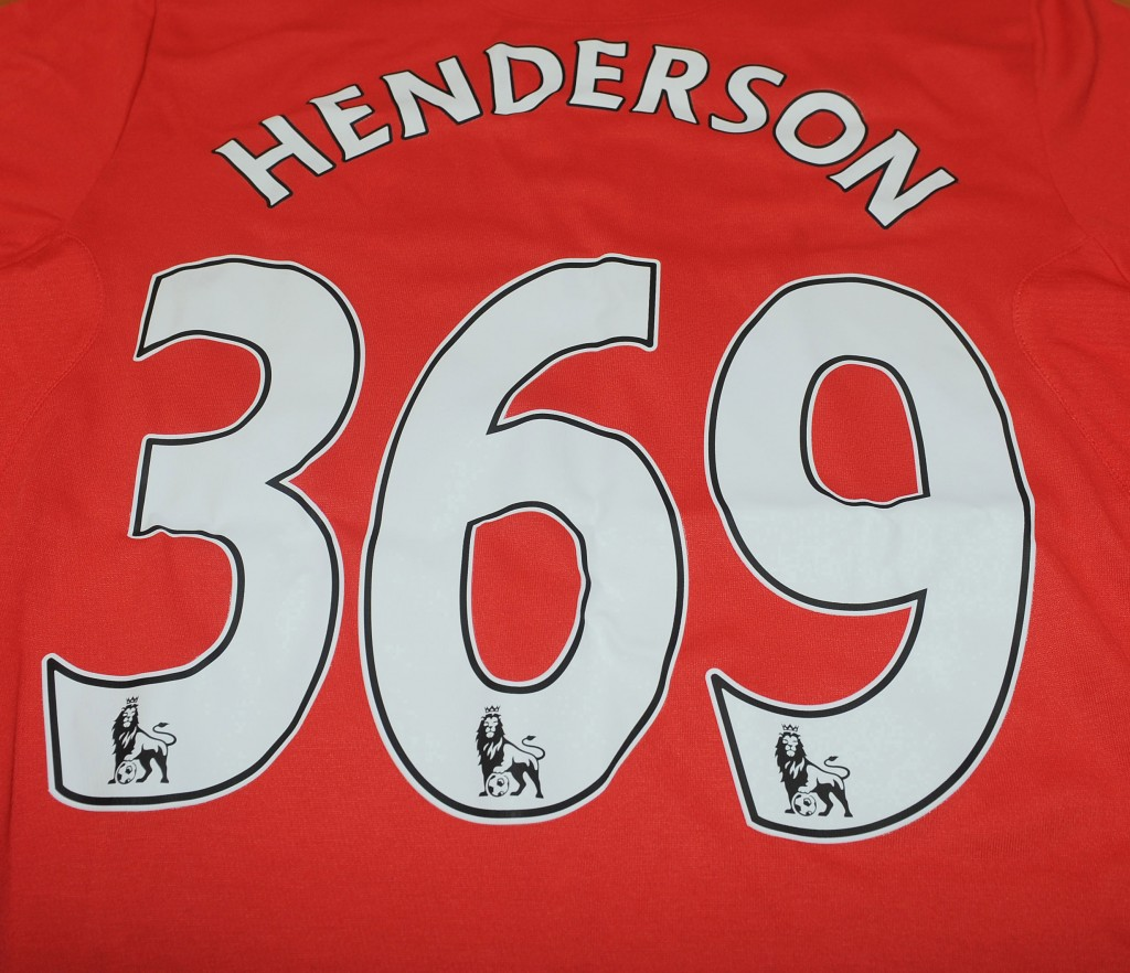 Henderson's shirt signifying his 369  passes (Pic: Western Union)